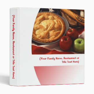 Red/White Apple Pie Personalized Recipe Menu Food Vinyl Binders