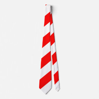 Red White Attention Warning Stripes Tie