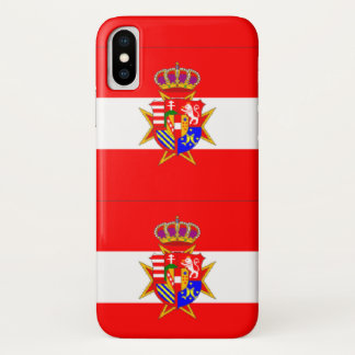 Red White Banner Grand Duchy of Tuscany iPhone X Case