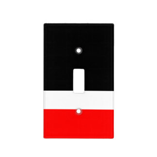 Red White Black Colorblock Light Switch Cover