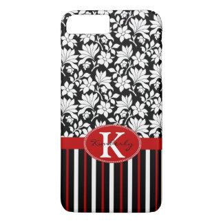 Red, white & black name / initial iPhone 8 plus/7 plus case