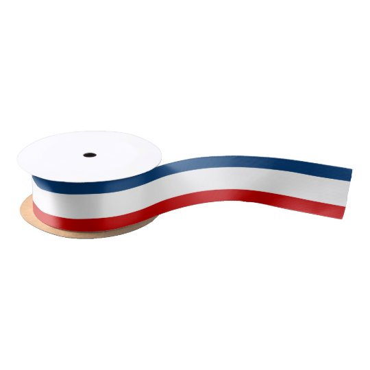 "Red White Blue 1.5"" Wide Satin Ribbon 2 Yard Spool"