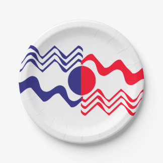 Red White Blue 4th of July 4Erika Paper Plate