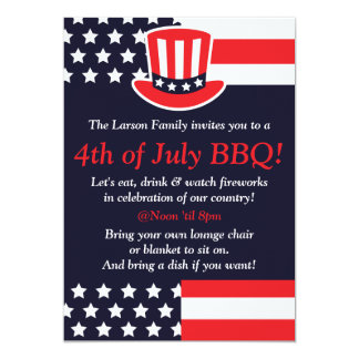 Red, White & Blue 4th of July Invitations