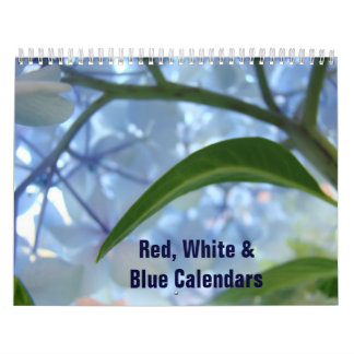 Red White Blue American Calendar Start any Month
