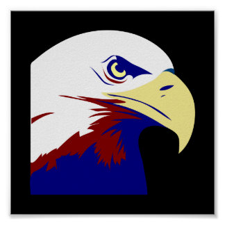 Red, White & Blue American Eagle Poster