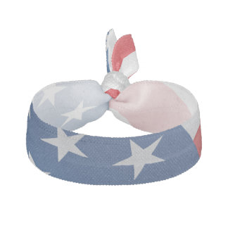 Red White Blue American Flag Hair Tie