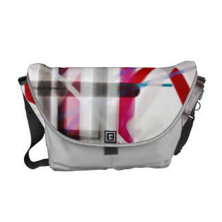Red White Blue and Black Pattern Abstract Messenger Bag