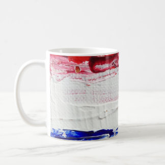Red, White, Blue, and Gold Coffee Mug