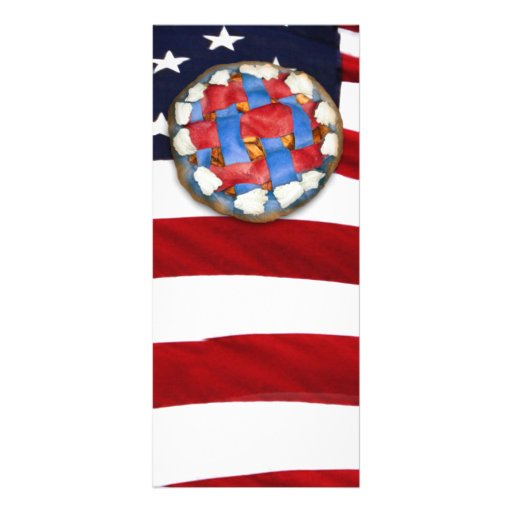 Red White & Blue Apple Pie Personalized Rack Card