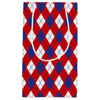 Red White Blue Argyle 1-GIFT BAG s