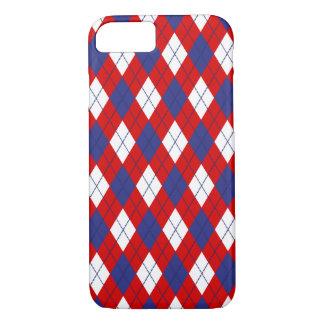 Red,White,Blue Argyle 1-iPhone 7 Case