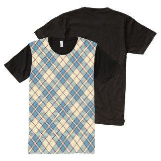 Red, White & Blue Argyle All-Over-Print T-Shirt
