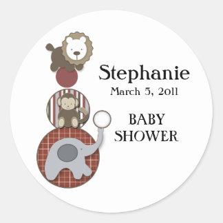 Red, White & Blue Baby Shower Sticker
