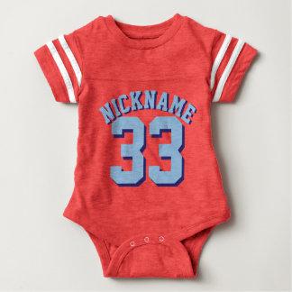 Red White & Blue Baby | Sports Jersey Design Baby Bodysuit