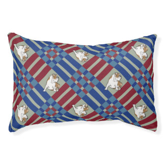 Red White Blue Bulldog Pet Bed