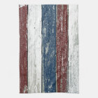 Red White Blue Driftwood Kitchen Towel