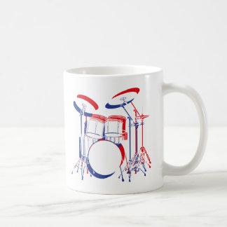 Red, White & Blue Drums Coffee Mug