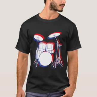 Red, White & Blue Drums T-Shirt