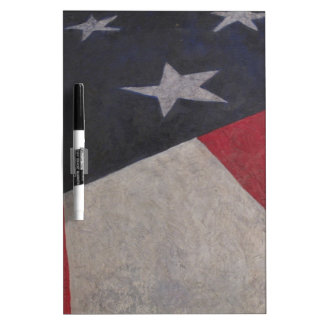 Red White Blue Dry Erase Board