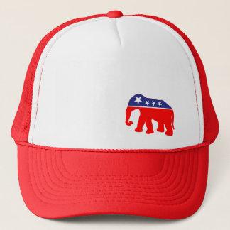 Red, White & Blue Elephant Trucker Hat