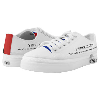 Red, White & Blue Fierceology Low-Top Sneakers