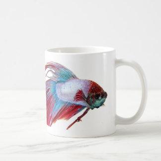 Red White & Blue (Fish on white background) Coffee Mug