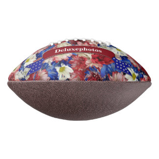 Red White Blue Flora Football