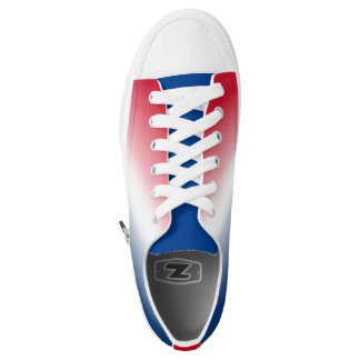 Red White Blue Gradient Low-Top Sneakers