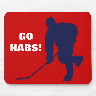 RED WHITE BLUE HOCKEY MOUSE PAD