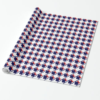 Red White Blue Houndstooth