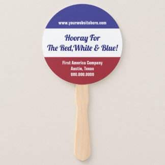Red,White & Blue Independence Day 4th of July Vote Hand Fan