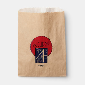 Red, White, Blue July 4th Favour Bag