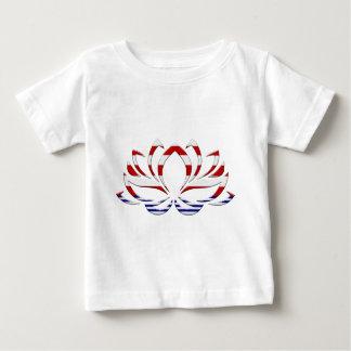 Red White & Blue Lotus Flower Baby T-Shirt