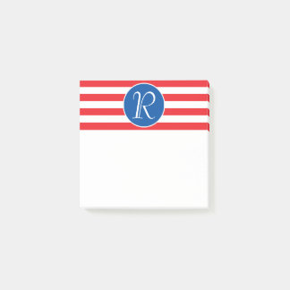 Red White & Blue Monogram Post-it® Notes