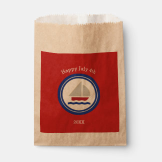 Red, White, Blue Nautical Favour Bag
