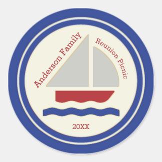 Red,White,Blue Nautical Sailboat Sticker