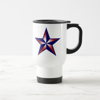 Red, White & Blue Nautical Star Mug