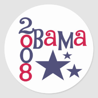 Red, White, Blue Obama 2008 Sticker