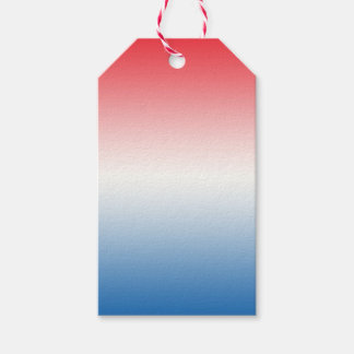 Red White & Blue Ombre Pack Of Gift Tags