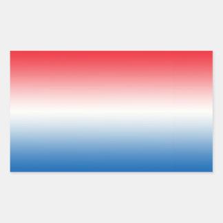 Red White & Blue Ombre Sticker