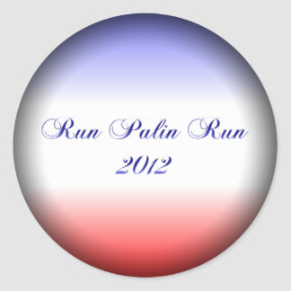 Red White & Blue Palin Fade Round Stickers
