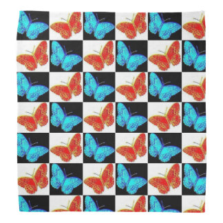 Red White Blue Patriotic Butterfly Bandanna | USA