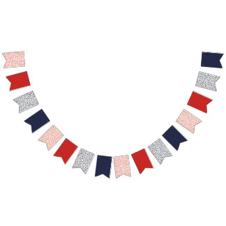 Red White Blue Patriotic Flag Banner USA