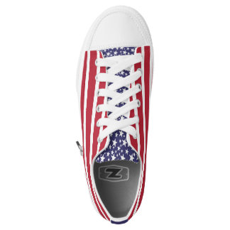 Red White Blue Patriotic Flag Sneakers