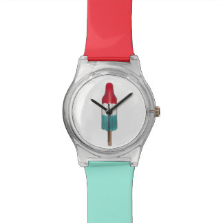 Red White Blue Patriotic Rocket Pop Popsicle Watch