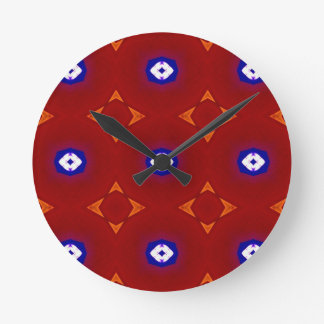Red White Blue Patriotic Summer Colors Clock