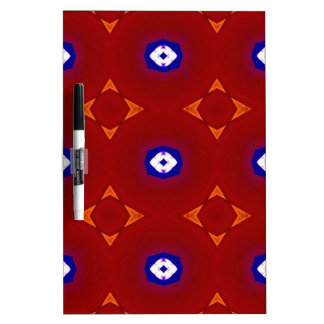 Red White Blue Patriotic Summer Colors Dry Erase Board