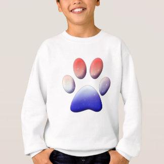 Red White Blue Paw Print Sweatshirt