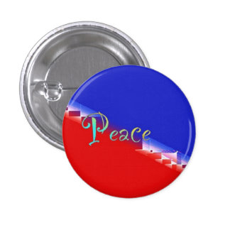 Red White Blue Peace 1 Inch Round Button